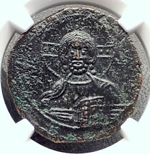JESUS CHRIST Class A3 Anonymous Ancient 1020AD Byzantine Follis Coin NGC i72350