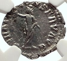 COMMODUS Authentic Ancient 192AD Rome Silver Coin w SERAPIS NGC Certified i69338