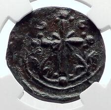 JESUS CHRIST Class I Anonymous Ancient Byzantine Follis Coin CROSS NGC i72082