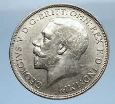 1917 United Kingdom Great Britain GEORGE V Silver Florin 2 Shillings Coin i69409