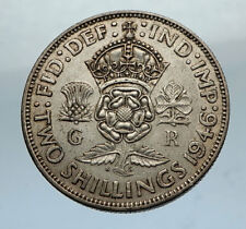 1946 United Kingdom Great Britain GEORGE VI Silver Florin 2Shillings Coin i66882