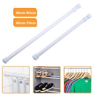 white plastic curtain tension curtain