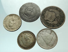 GROUP LOT of 5 Old SILVER Europe or Other WORLD Coins for your COLLECTION i75691