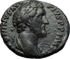 ANTONINUS PIUS 155AD Rome  Authentic Ancient Roman Coin Providentia i70233
