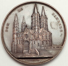 1861 GERMANY Bamberg Cathedral in Bavaria German Christian Huge 6cm Medal i70693