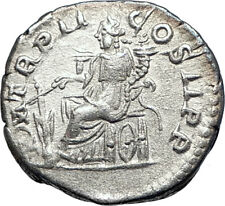 ELAGABALUS 219AD Rome Silver Authentic Ancient Roman Coin Fortuna  73550