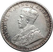 1916 INDIA UK King George V Silver Antique RUPEE Vintage Indian Coin i71857
