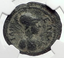 CARACALLA Authentic Ancient ROMAN City Ilium on TROY Site Coin ATHENA NGC i72624