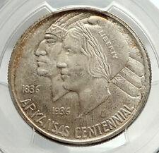 1935 ARKANSAS Commemorative Silver Half Dollar US Coin NATIVE AMERICAN PCGS PCGS