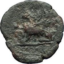 ANTONINUS PIUS Alexandria Egypt Authentic Ancient Roman Coin w GRIFFIN i70712