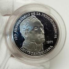 1971 PANAMA Huge 6.2cm Proof Silver 3.8oz 20 Balboas Coin w SIMON BOLIVAR i76332
