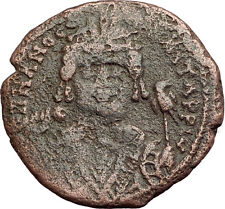 MAURICE TIBERIUS 582AD Antioch Follis Authentic Ancient Byzantine Coin i62571