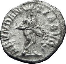 SEVERUS ALEXANDER 229AD Authentic Ancient Silver Roman Coin ABUNDANTIA i70373