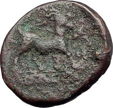 AIGAI in AEOLIS 2-1stCenBC Authentic Ancient Greek Coin APOLLO & GOAT i61563