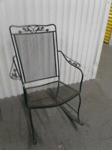 green wrought iron patio chairs swings
