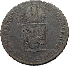 1816 AUSTRIA Emperor FRANZ Francis II Antique 1 Kreuzer Austrian Coin i74535