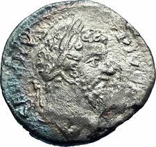 SEPTIMIUS SEVERUS sacrificing 202AD Authentic Silver Ancient Roman Coin i77303