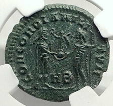 GALERIUS as Caesar w Jupiter Authentic Ancient 295AD Roman Coin NGC i76321
