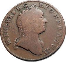 1763 AUSTRIA w Queen Maria Theresa Genuine Antique Kreuzer Austrian Coin i74537