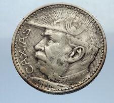 1935 BRAZIL Silver 2000 Reis Coin w Duke of Caxias Marshall Alvez de Lima i69349
