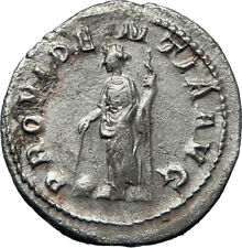 GORDIAN III 243AD Authentic Genuine Ancient Silver Roman Coin Providentia i70196