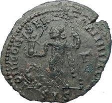 LICINIUS I 313AD Follis Genuine Ancient Roman Coin JUPITER EAGLE VICTORY i73662