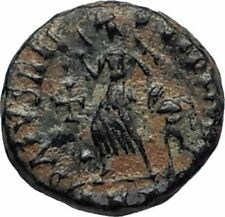 THEODOSIUS I the Great 388AD Ancient Roman Coin VICTORY ANGEL & CROSS i67020