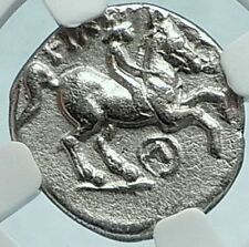 PHILIP II 323BC Macedonia Authentic Ancient Silver Greek OLYMPIC Coin NGC i65991
