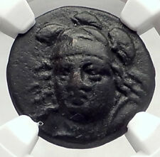 PHARSALOS in THESSALY Authentic Ancient Greek Coin ATHENA HORSE NGC i73134
