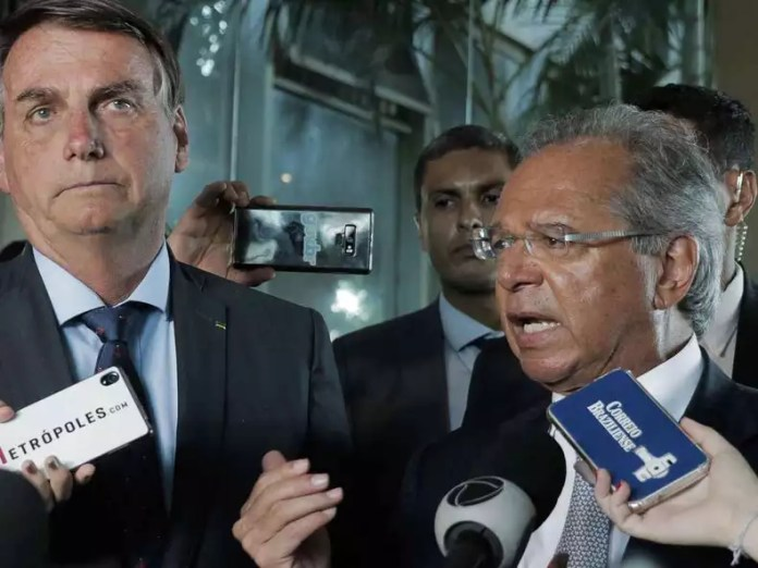 Jair Bolsonaro (without party) and Economy Minister Paulo Guedes (photo: Valter Campanato / Ag