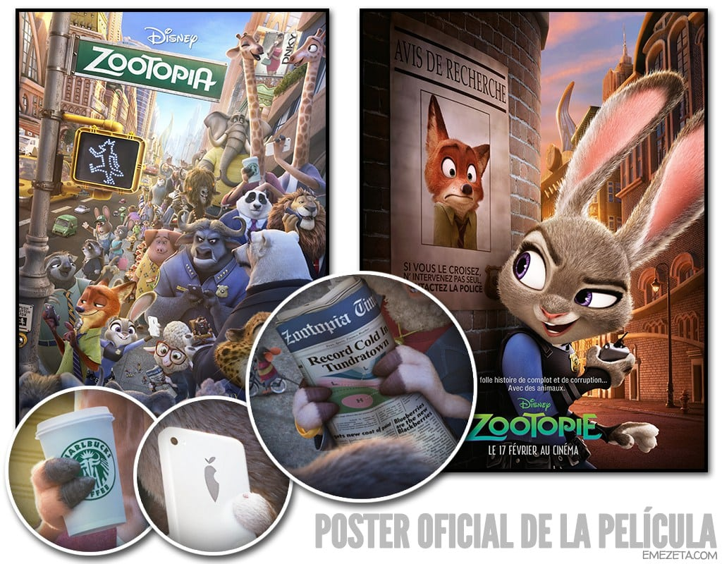Poster oficial de Zootopía