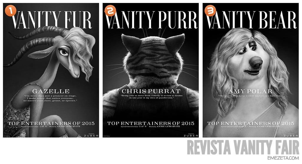 Revista Vanity Fair en Zootrópolis