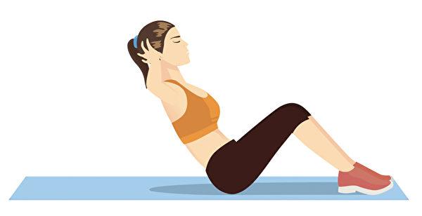 傳統仰臥起坐作法。(Shutterstock)