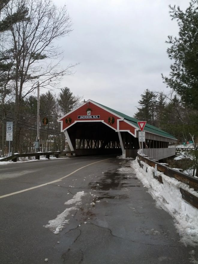Covered bridge in Jackson, NH