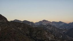 Moon over Angeles National Forest
