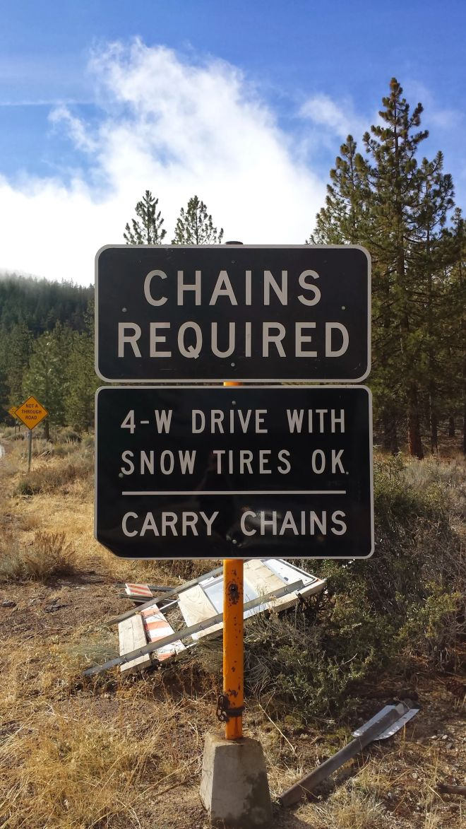 Chains Required--I should remember for next time