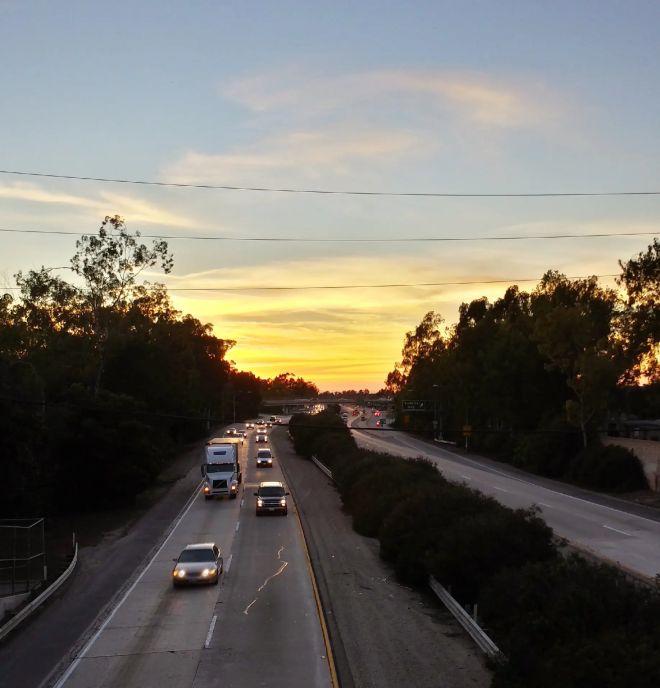 sunset-commute