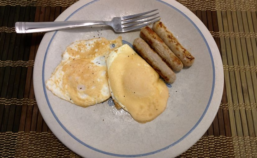 Eggs and turkey sausage