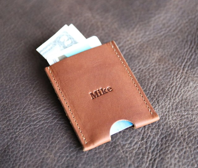 Personalized Groomsmen Gift The Jefferson Fine Leather Card Holder Wallet Groomsman Gifts Wedding Party Gift Christmas Gift For Him