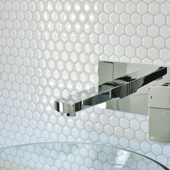 smart tiles contemporary white hexagon peel and stick tile backsplash sm1038