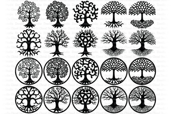 Tree Of Life Tree Of Life Svg Tree Svg Tree Of Life Svg Files For Silhouette And Cricut Tree Of Life Clipart Svg Png Ai Eps Dxf By Doodle Cloud Studio