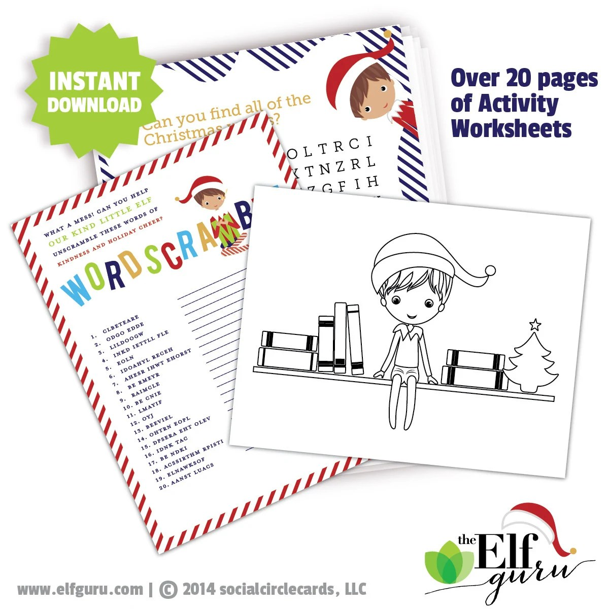 Printable Elf Activity Worksheets Holiday Activity Sheets