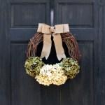 Hydrangea Wreath Grapevine Wreath Front Door Wreath Year Round Wreath Spring Wreath Summer Wreath Everyday Wreath For Front Door Decor