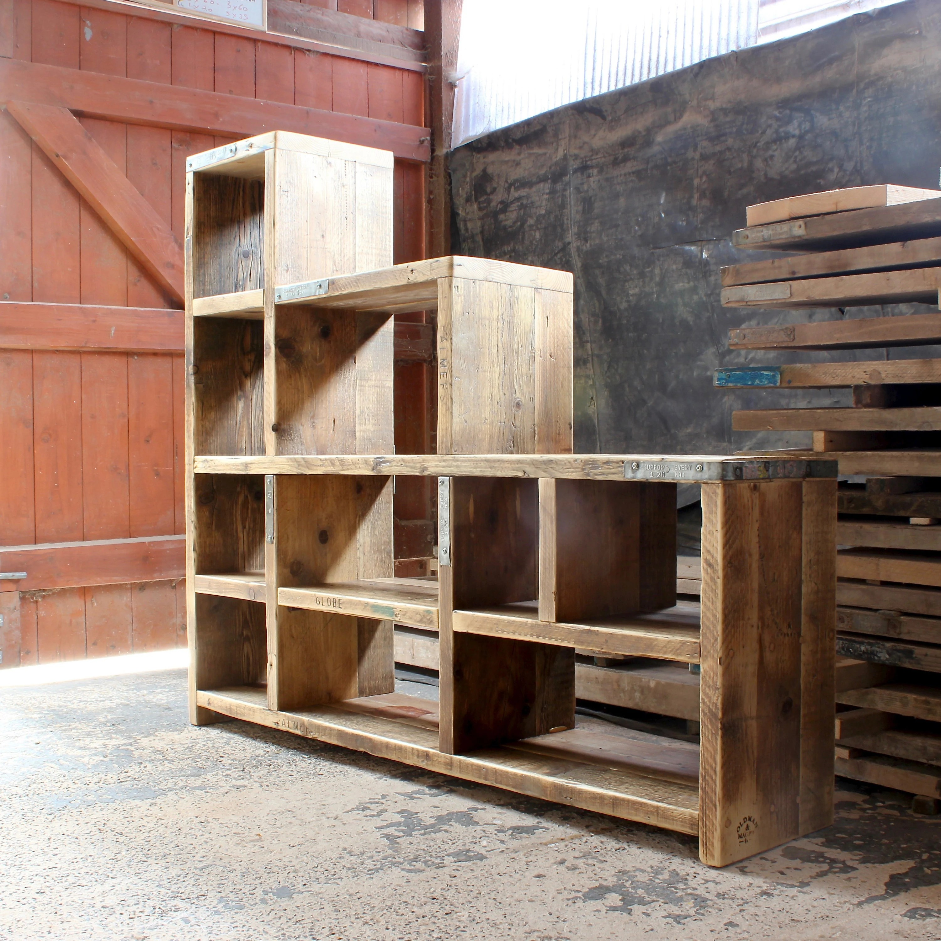 Issac Reclaimed Wood Bookcase
