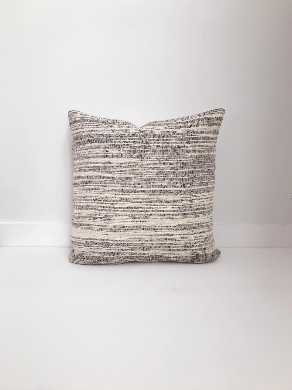 boho pillow black and white pillow