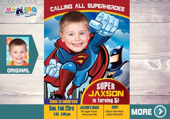 superman birthday invitation superman