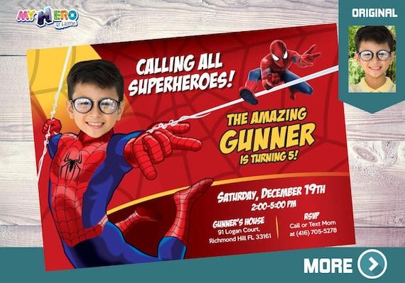 spider man birthday invitation spider