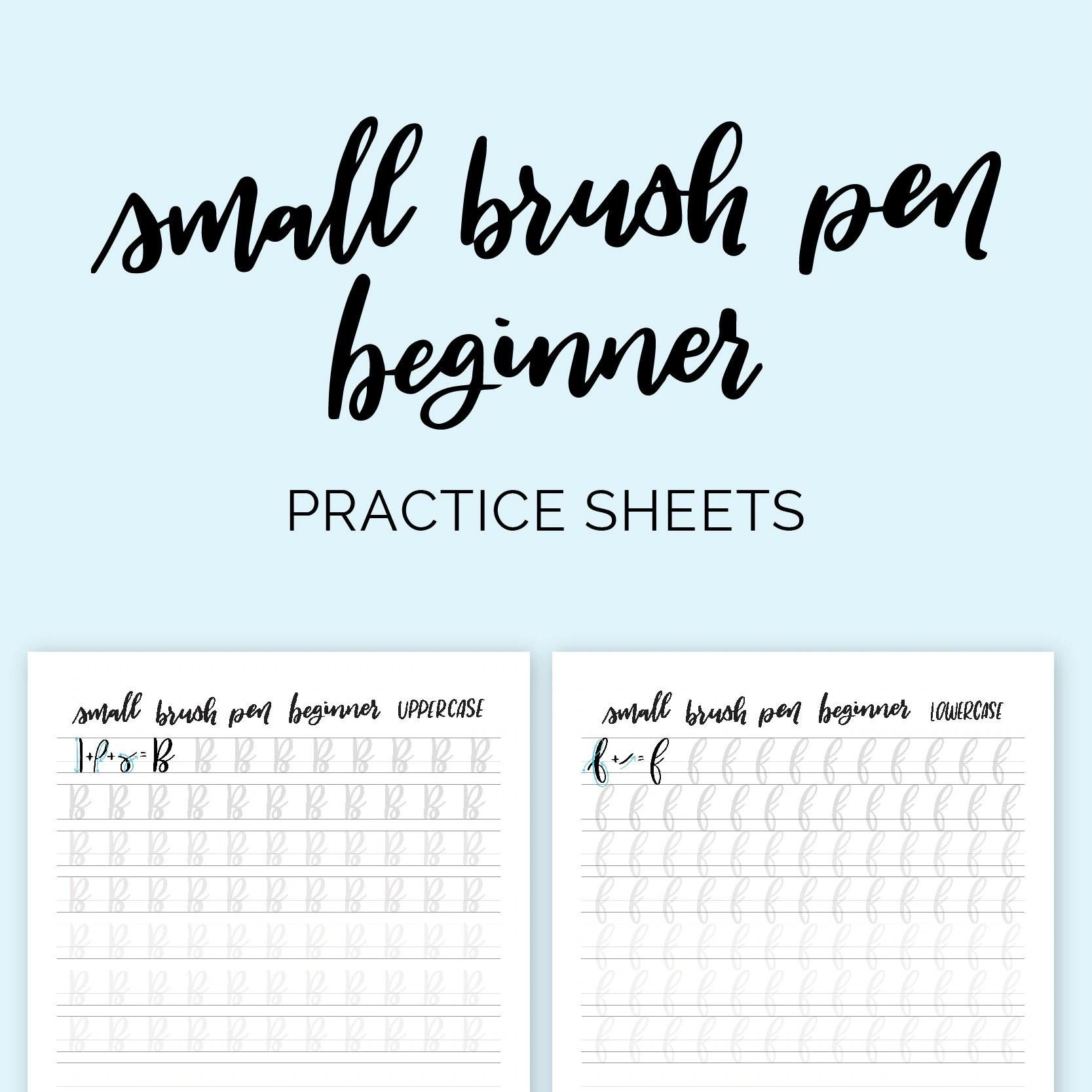 Option 2 Small Brush Pen Beginner Calligraphy Practice