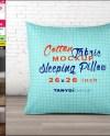 Sleeping Pillow 26x26 Photoshop Fabric Mockup Png White Etsy