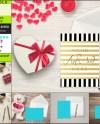 6 Png Desktop Scenes With 5x7 Vertical Horizontal Greeting Etsy